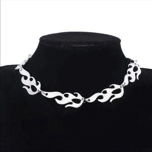 Fire Flame Necklace & Bracelet
